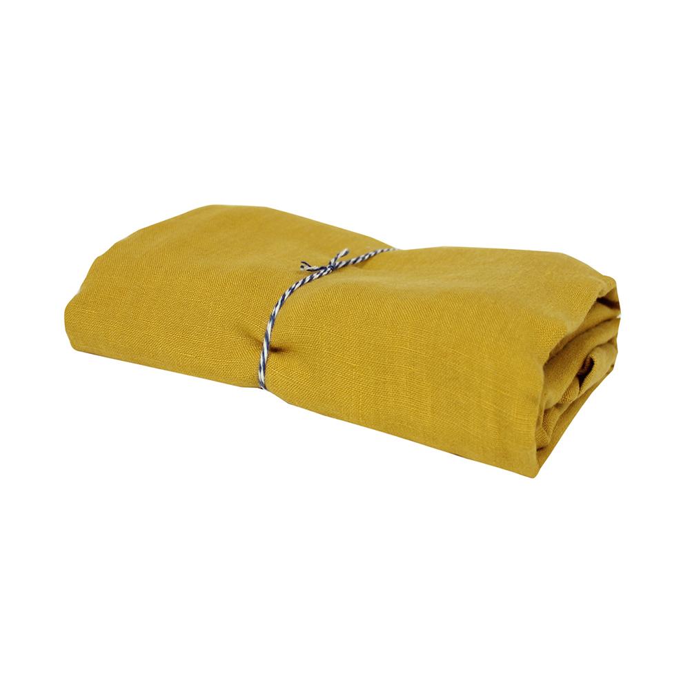 taie d 39 oreiller lin moutarde lab pour chambre enfant les enfants du design. Black Bedroom Furniture Sets. Home Design Ideas