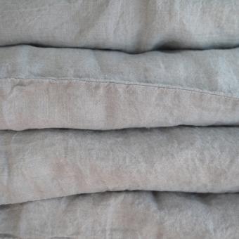 housse de couette en lin 140 x 200 gris ciel linge particulier parures de lit design pour. Black Bedroom Furniture Sets. Home Design Ideas