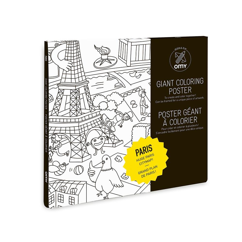 Paris poster colorier omy design and play pour chambre - Oeil a colorier ...