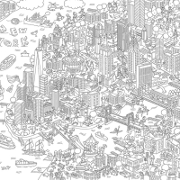 New York - Poster à colorier