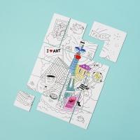 Puzzle à colorier Paris