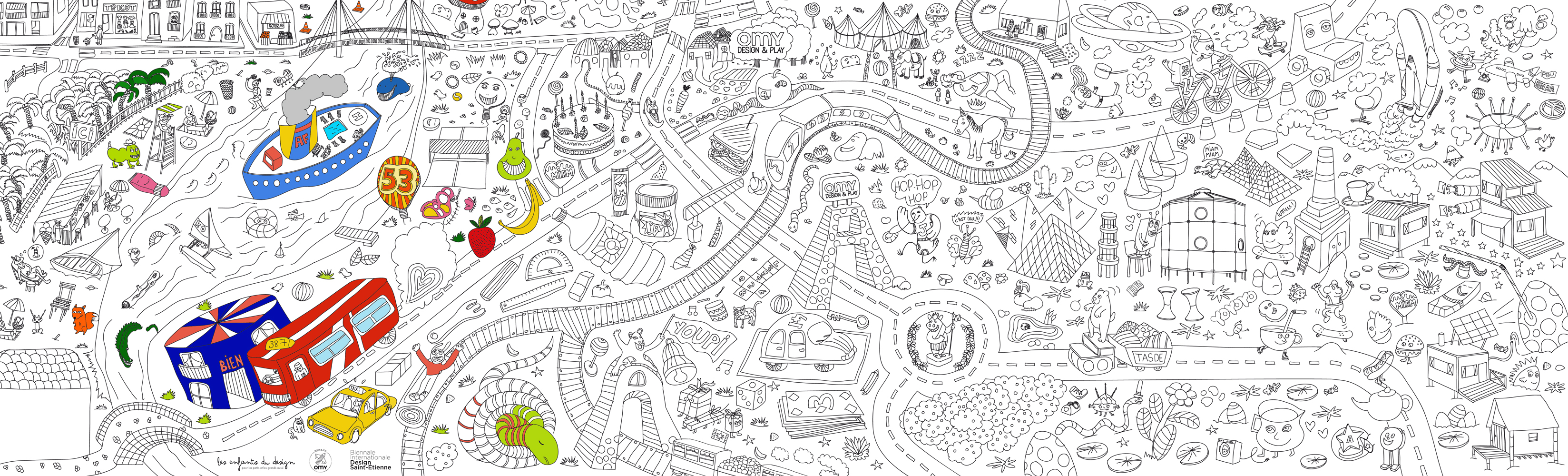 1000 images about coloriage geant on pinterest - Coloriage omy ...