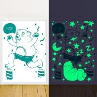 Affiche phosphorescente Orso - Ours Vert
