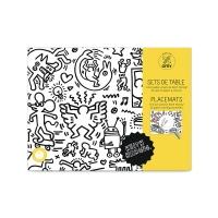 Keith Haring - Set de table à colorier