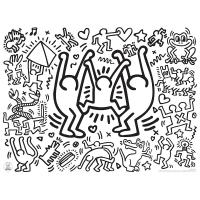 Keith Haring - Sets de table à colorier