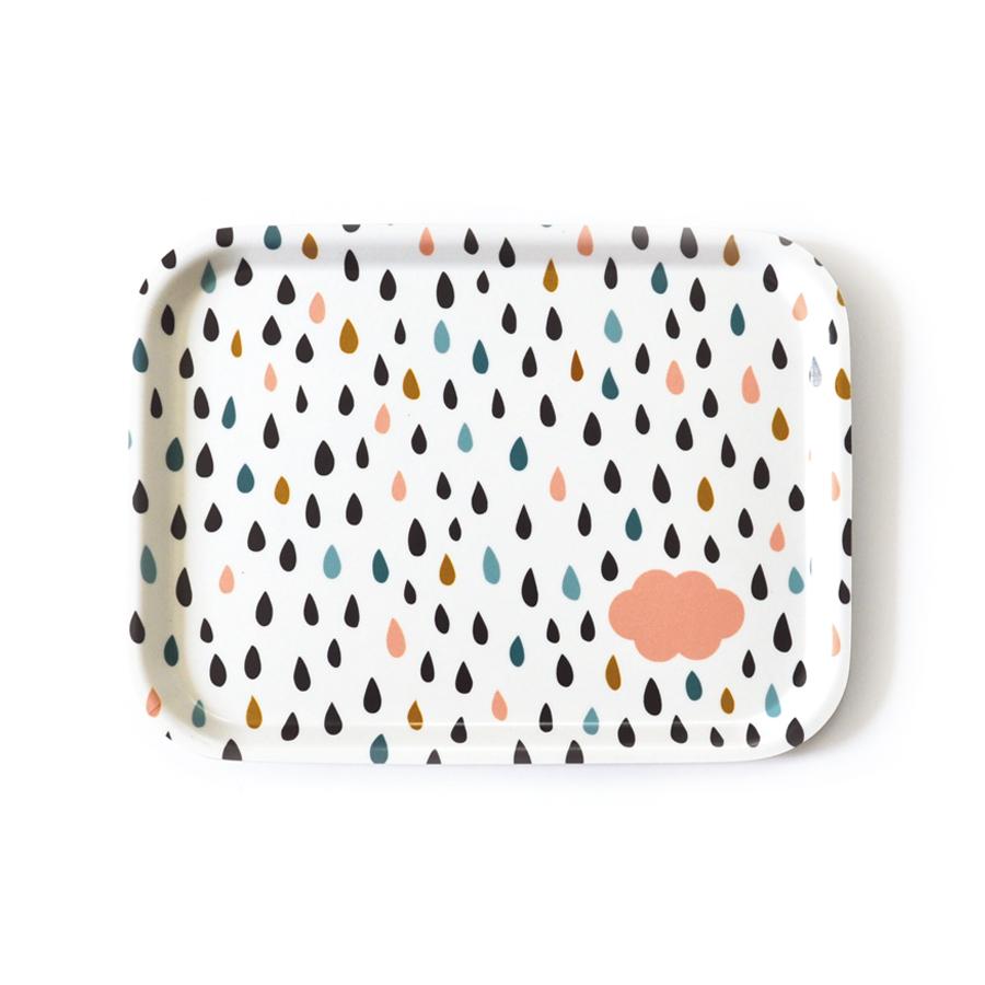Plateau nuage et pluie oelwein pour chambre enfant les enfants du design - Les enfants du design ...