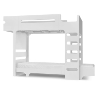 Lit superposé F+ A Bed et son matelas - Blanc
