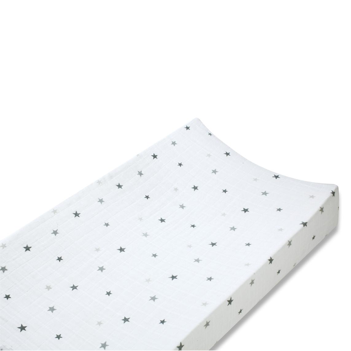 housse de matelas langer etoiles grises aden ana s pour chambre enfant les enfants du design. Black Bedroom Furniture Sets. Home Design Ideas