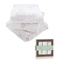 Pack 3 Petits langes Musy Classic - Rose