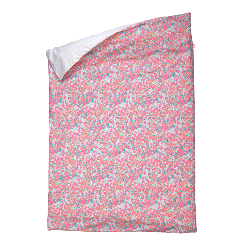 Housse de couette little flower 100 x 140 cm fuchsia for Bibelot design rouge