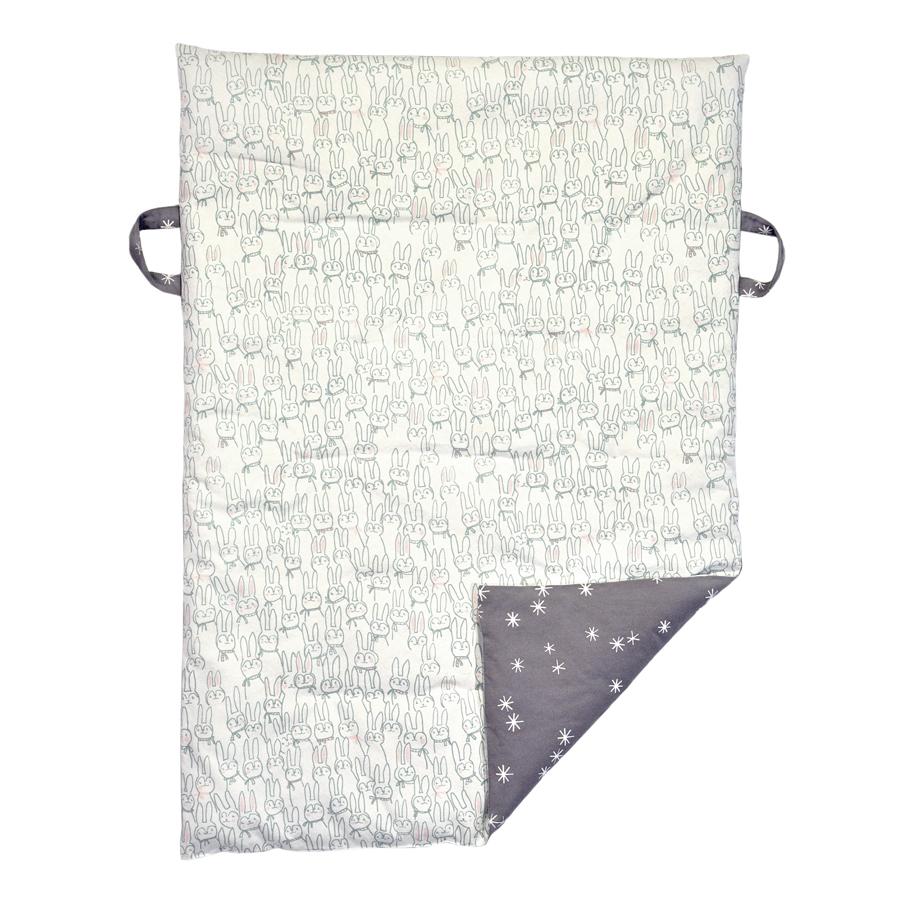 tapis de jeux lapins etoiles gris blabla kids pour. Black Bedroom Furniture Sets. Home Design Ideas