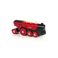 Locomotive rouge puissante à piles