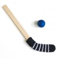 Bâton de hockey - Noir/Bleu