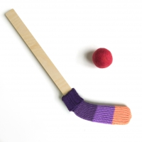 Bâton de hockey - Violet/Orange