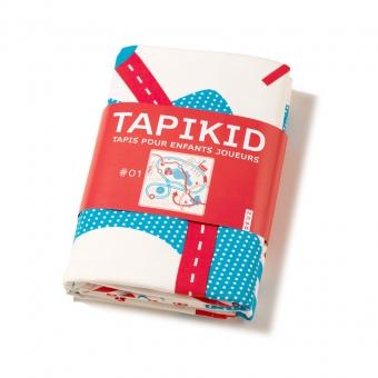tapis de jeu tapikid bleu rouge deuz pour chambre enfant les enfants du design. Black Bedroom Furniture Sets. Home Design Ideas