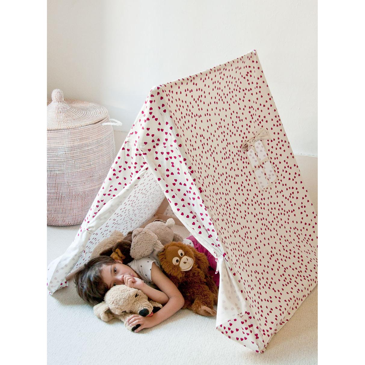 Tente Chambre Garcon pour tente coeur - fuchsia deuz pour chambre enfant - les enfants du design