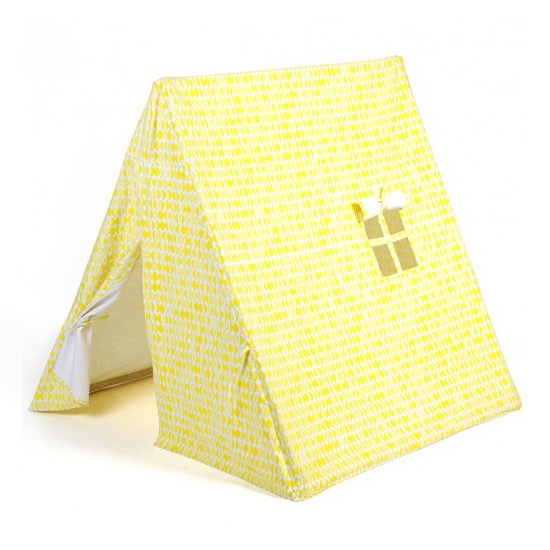 Tente feuilles jaune deuz pour chambre enfant les for Tente chambre enfant