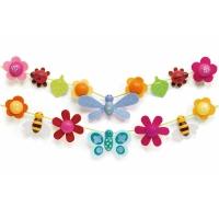 16 perles - Libellule et papillon
