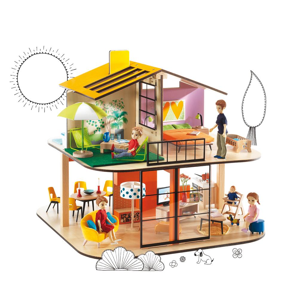 maison de poup es color house djeco pour chambre enfant les enfants du design. Black Bedroom Furniture Sets. Home Design Ideas