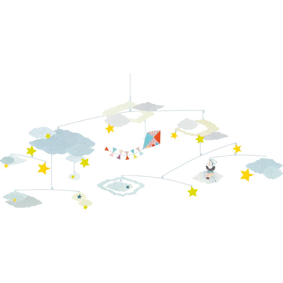 Mobile la t te dans les nuages djeco pour chambre enfant les enfants du design - Les enfants du design ...