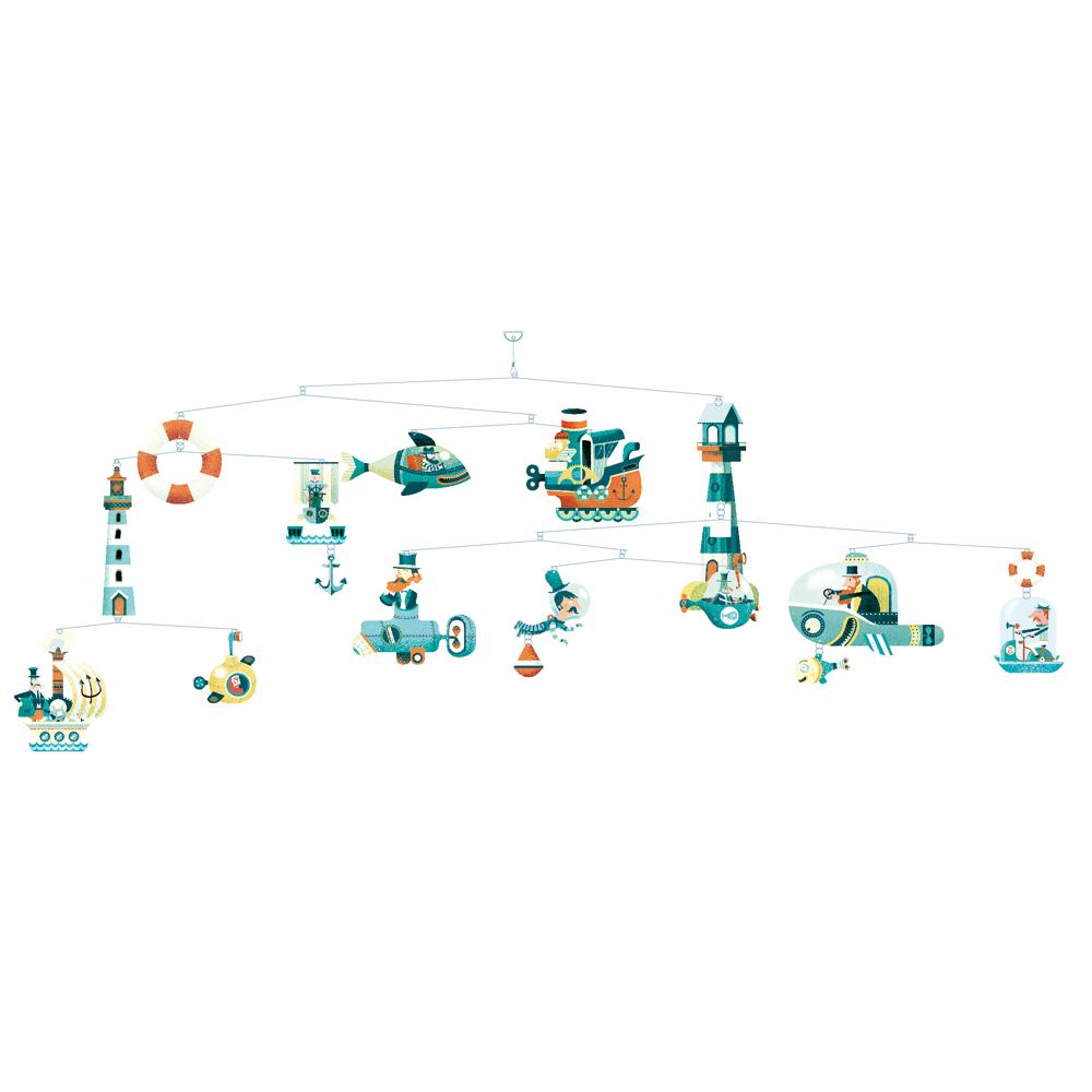 Mobile les vaisseaux marins djeco pour chambre enfant les enfants du design - Les enfants du design ...