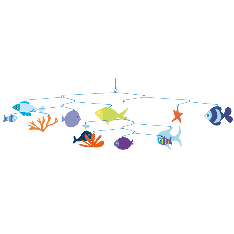 Mobile monde marin djeco pour chambre enfant les enfants du design - Chambre enfant marin ...