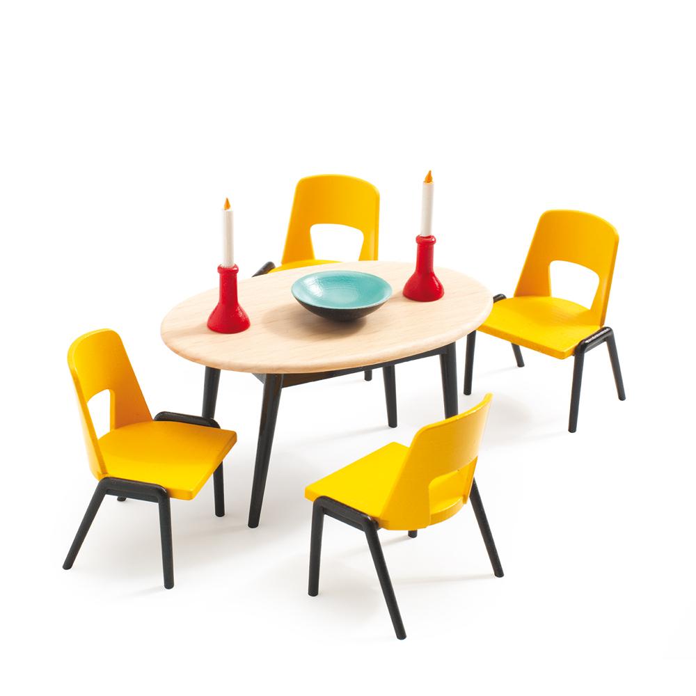 La salle manger djeco pour chambre enfant les enfants for Salle a manger playmobil