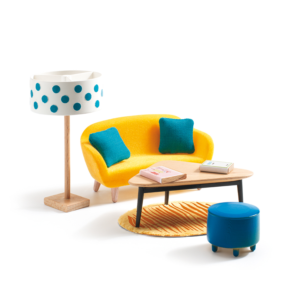 le salon orange djeco pour chambre enfant les enfants du design. Black Bedroom Furniture Sets. Home Design Ideas