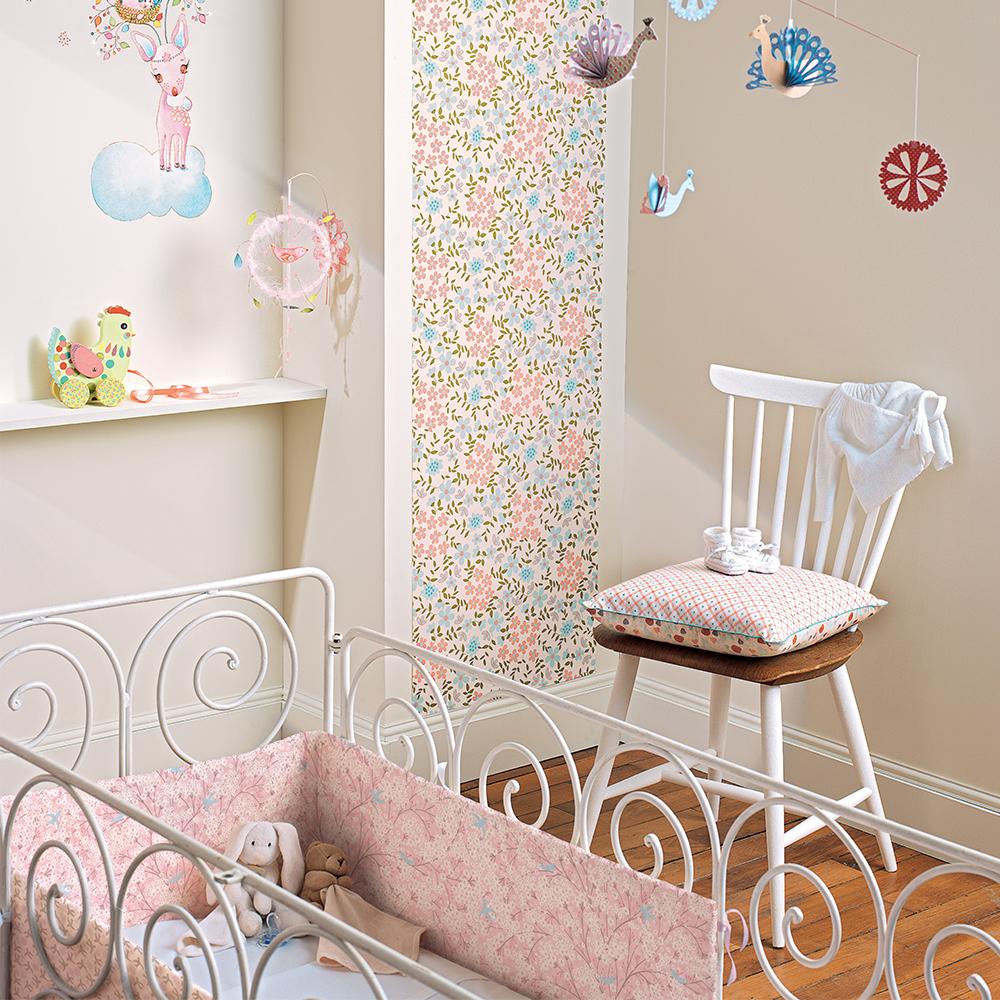 tour de lit fleur de coton djeco pour chambre enfant - les enfants
