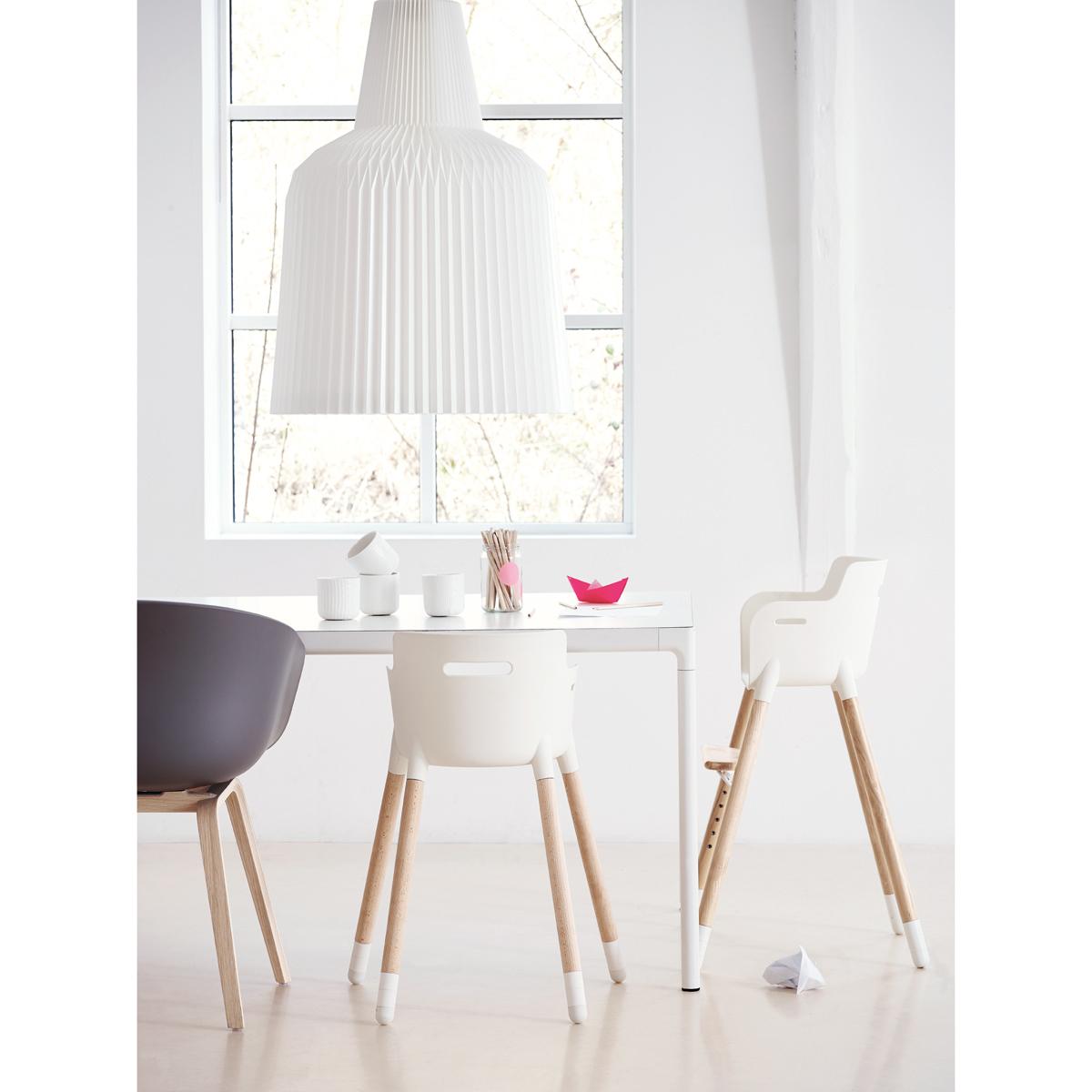 chaise haute évolutive - blanc flexa pour chambre enfant - les