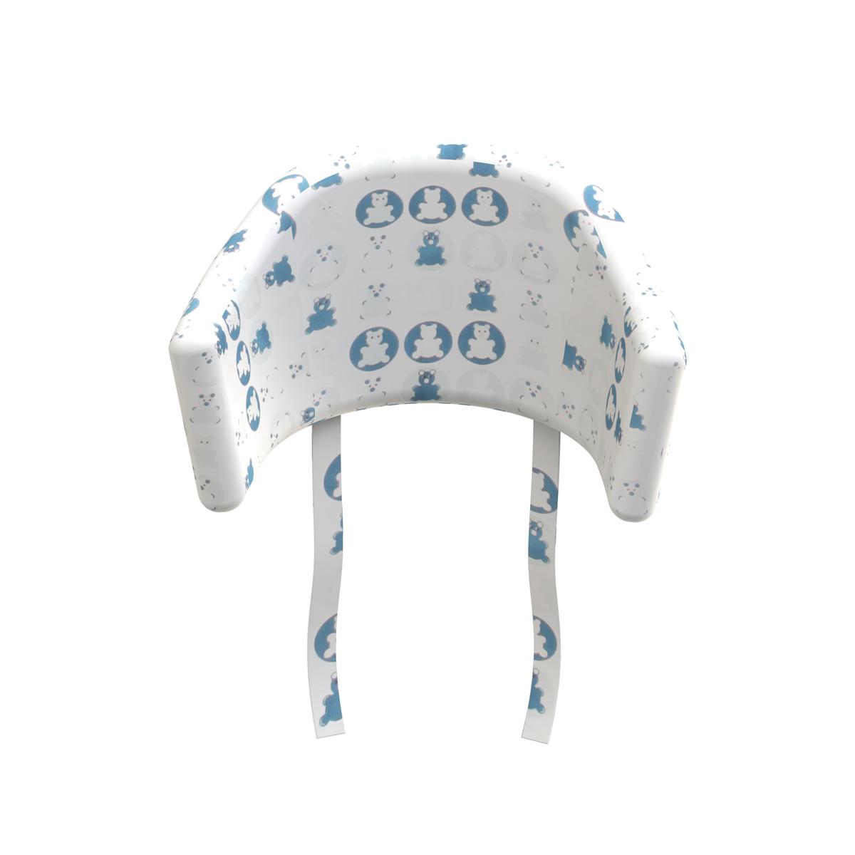 Coussin d 39 assise pour chaise haute bleu flexa pour - Coussin pour chaise haute bebe confort ...