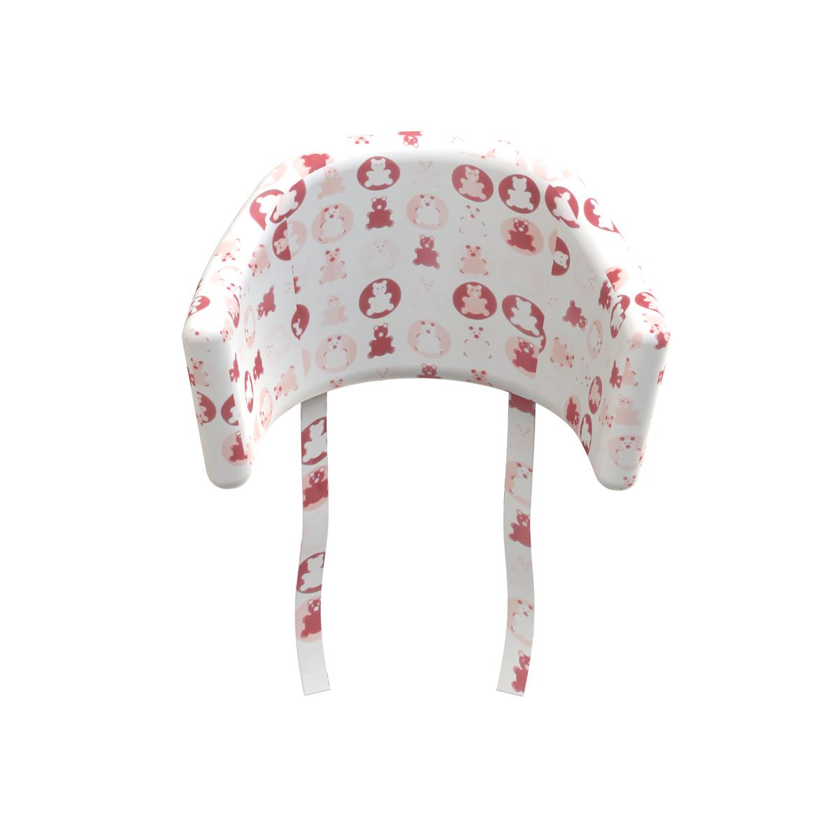 coussin d 39 assise pour chaise haute rose flexa pour chambre enfant les enfants du design. Black Bedroom Furniture Sets. Home Design Ideas