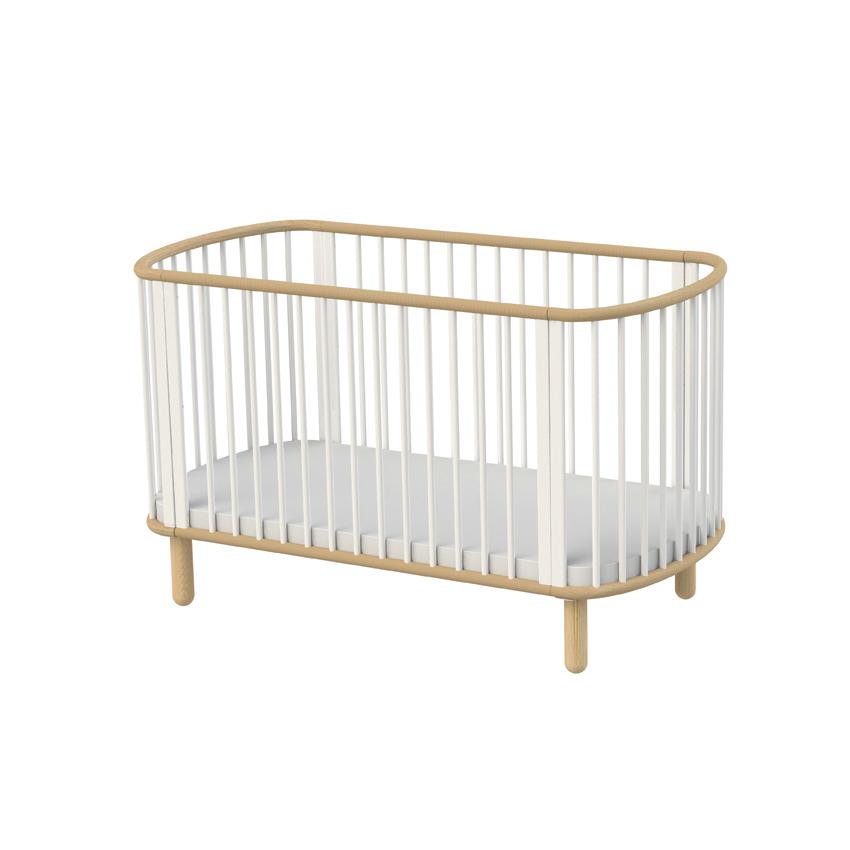 lit b b volutif h tre blanc flexa pour chambre enfant les enfants du design. Black Bedroom Furniture Sets. Home Design Ideas