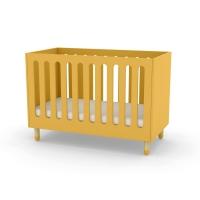 Lit bébé à barreaux - Jaune or