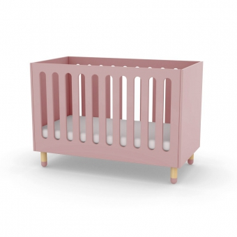 Lit bébé à barreaux - Rose poudré