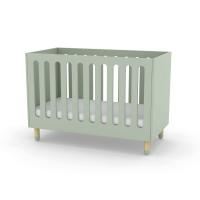 Lit bébé à barreaux - Vert d'eau