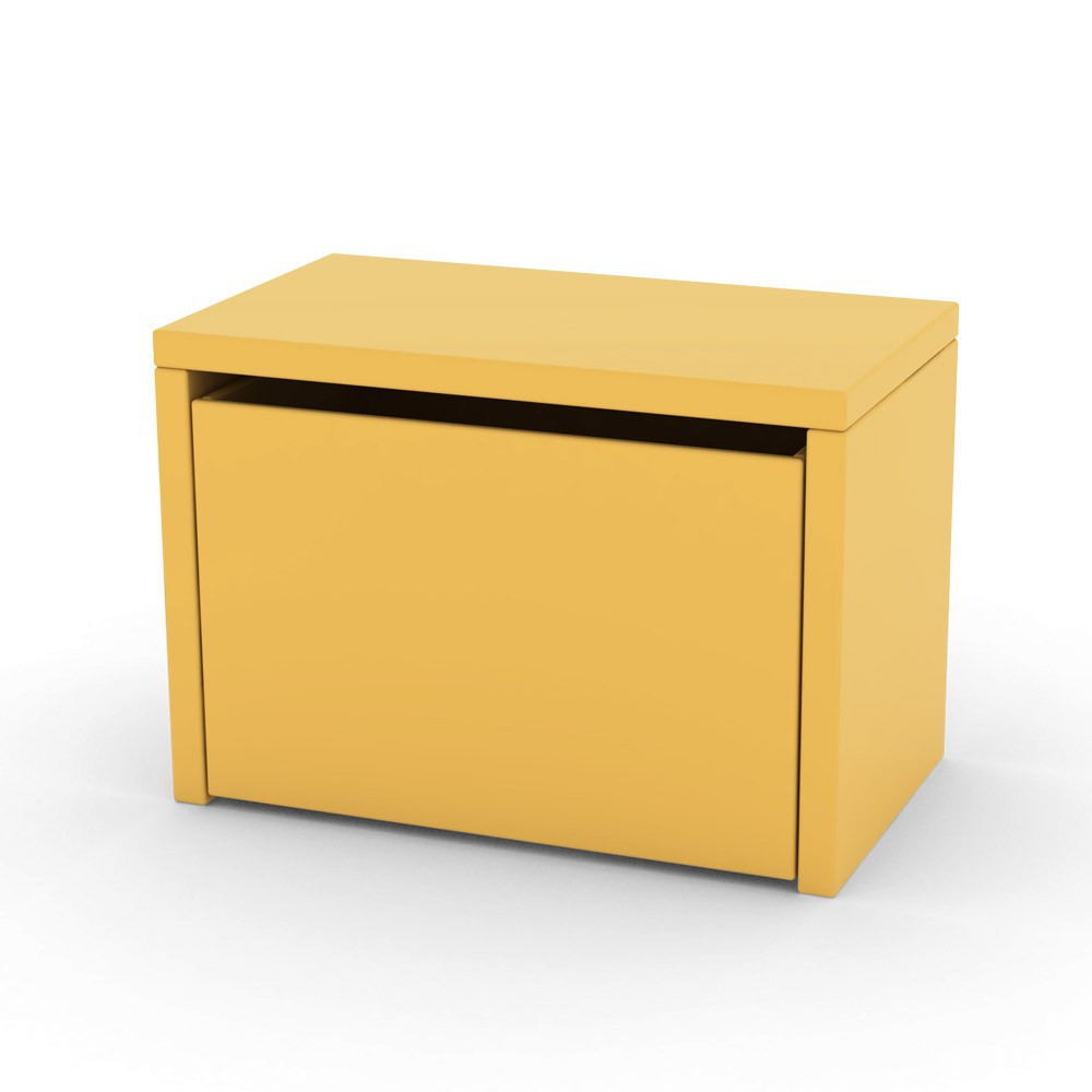 Chevet coffre de rangement jaune or flexa play pour for Table de chevet enfants