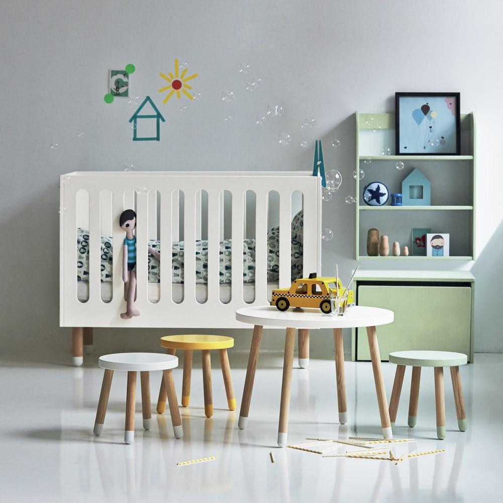 Tabouret enfant - Vert d\'eau Flexa Play pour chambre enfant - Les ...