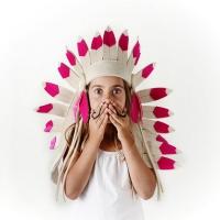 Grande parure d'indien - Fuchsia