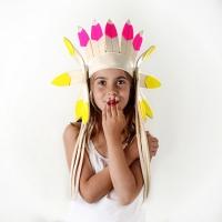 Parure d'indien - Jaune/Fuchsia