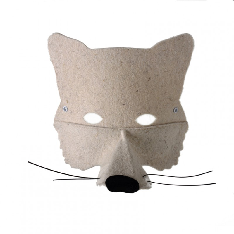 Masque loup blanc frida 39 s tierchen pour chambre enfant les enfants du design - Masque loup a imprimer ...
