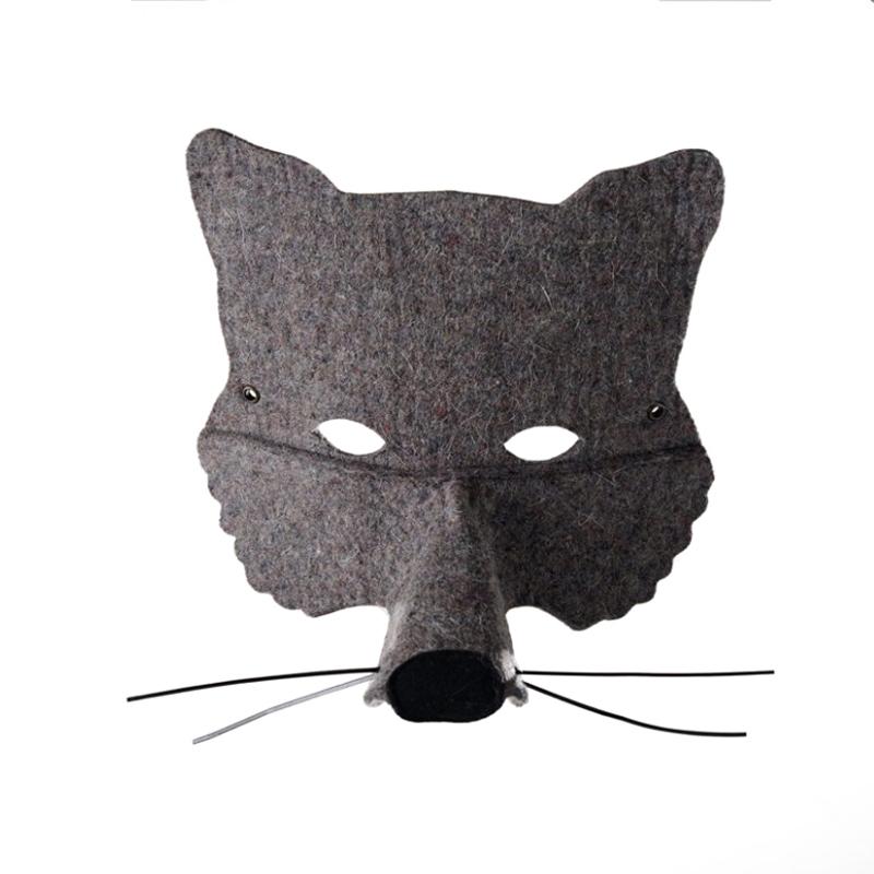 Masque loup gris frida 39 s tierchen pour chambre enfant les enfants du design - Masque loup a imprimer ...