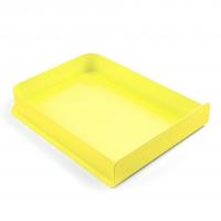 Corbeille A4 Charlie - Jaune citron