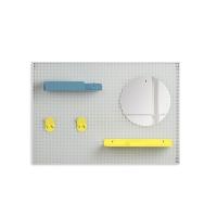 Concierge Alfred - Jaune citron/Bleu pastel