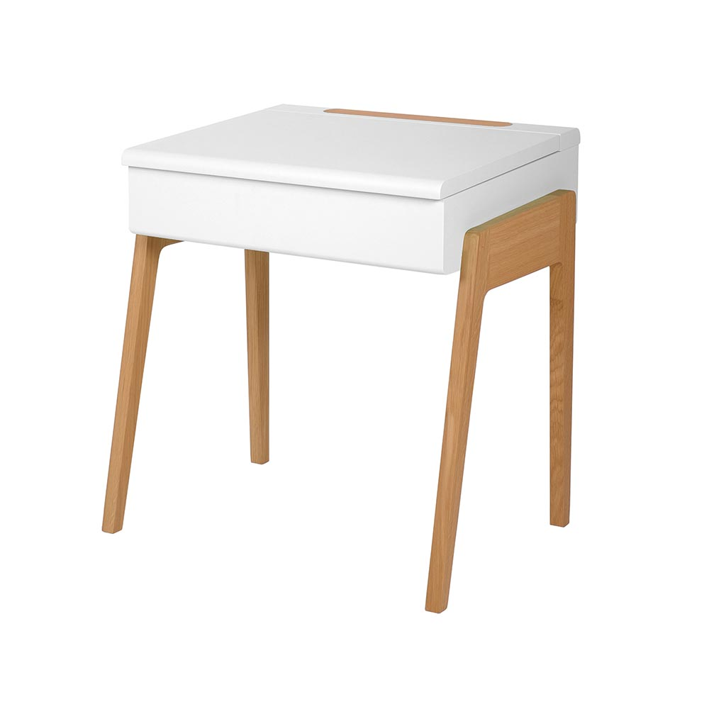 Bureau enfant my little pupitre blanc jungle by jungle for Bureau en bois pour enfant