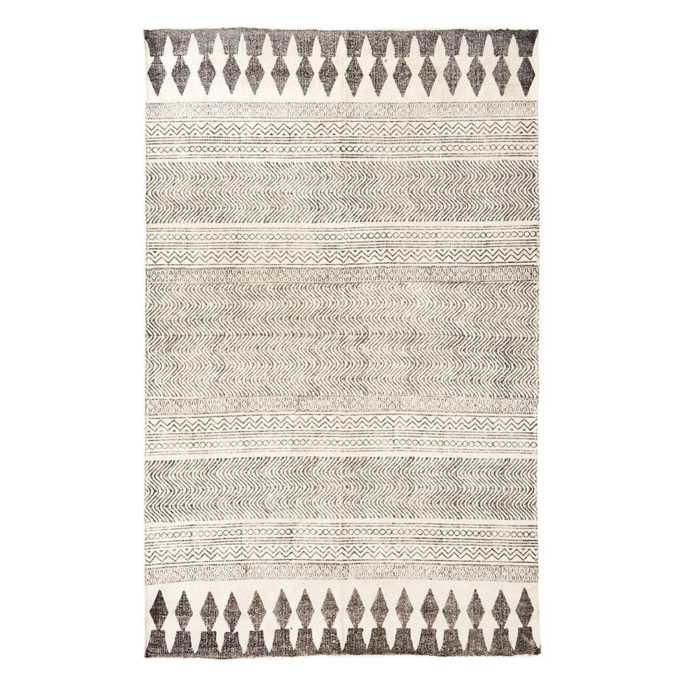 tapis en chanvre ecru noir madam stoltz pour chambre enfant les enfants du design. Black Bedroom Furniture Sets. Home Design Ideas