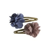 Barrettes Fleur - Denim