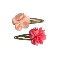 Barrettes Fleur - Rose