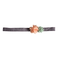 Headband Fleurs - Rose poudré