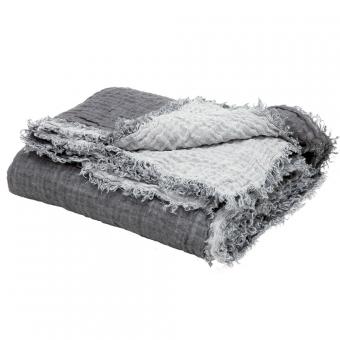 plaid vice versa en lin chantilly orage maison de. Black Bedroom Furniture Sets. Home Design Ideas